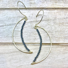 Argentium Silver Crescent Moon Earrings