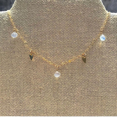 Moonstone Sequin Necklace