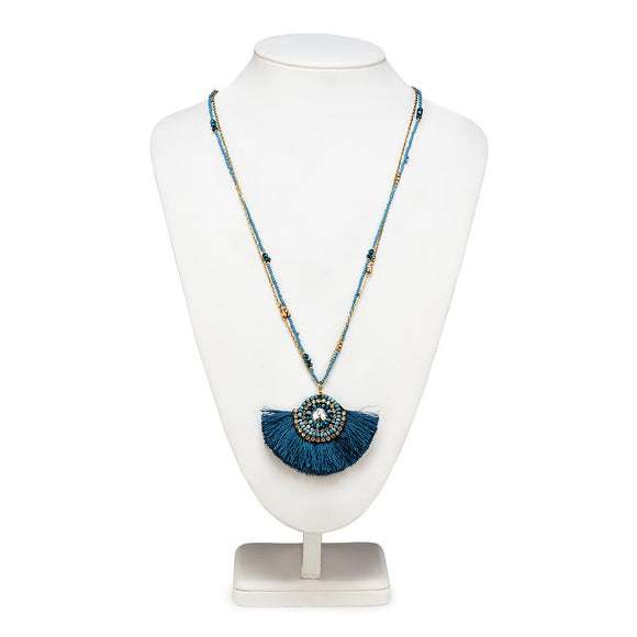 Collier Tassel Long - BLEU 34