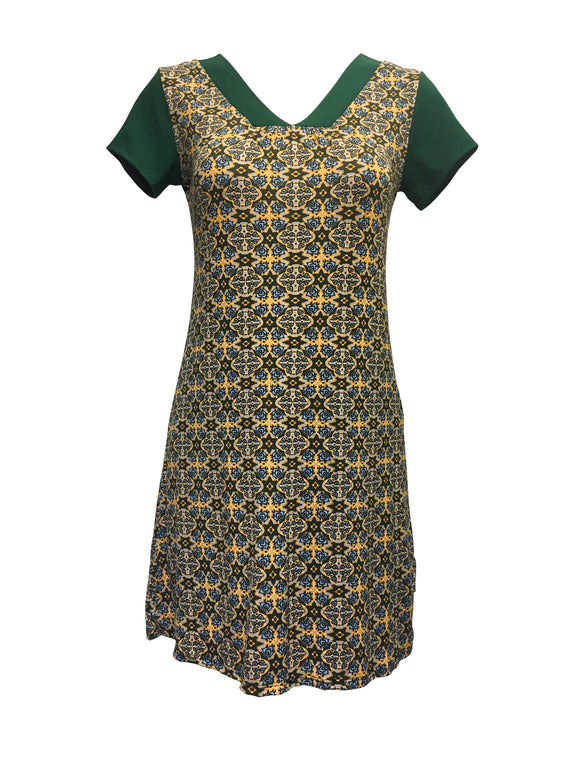 Avatea Verte - Robe Folia V-neck
