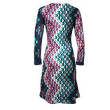 Robe taille empire Folia Maeve - Marine