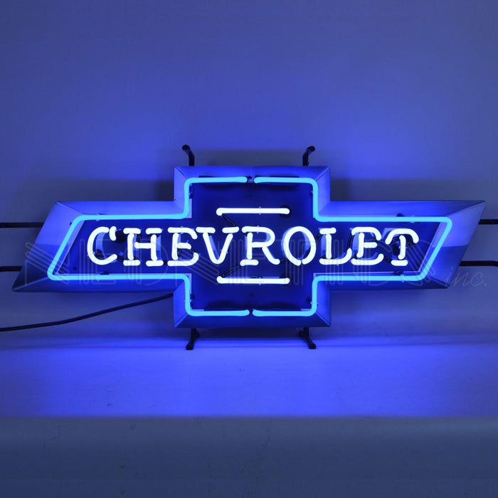 CHEVROLET BOWTIE NEON SIGN WITH BACKING