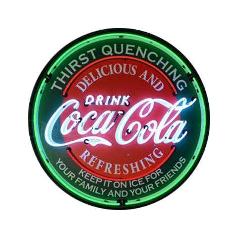 NEONETICS COCA-COLA EVERGREEN 36 INCH NEON SIGN IN METAL CAN
