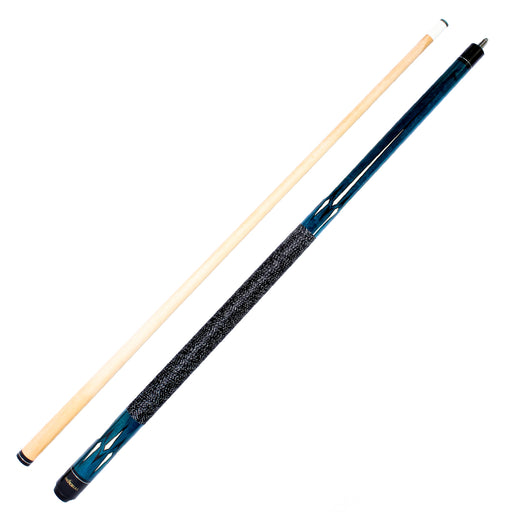 The Hustler Series 58-in  Two Piece Cue Blue