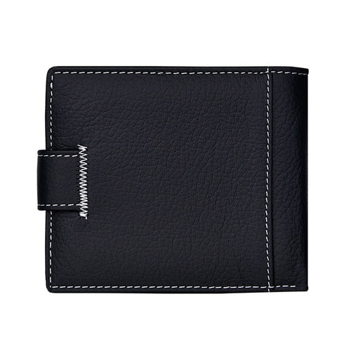 Short Leather Bi-Fold Wallet