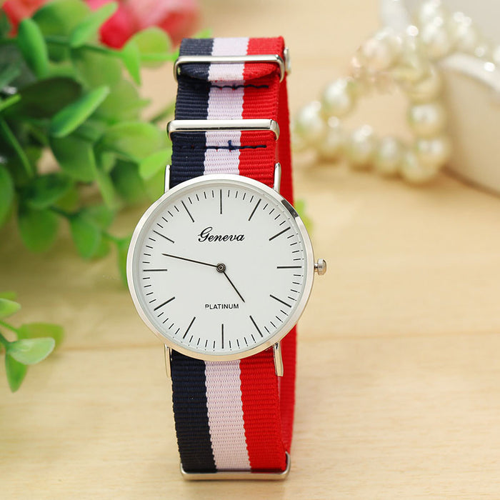Simpleim Stripes Men Watches Analog Quartz Vogue Wrist Watch