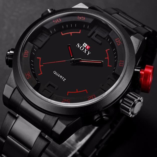 Mens Waterproof Analog Quartz Watch