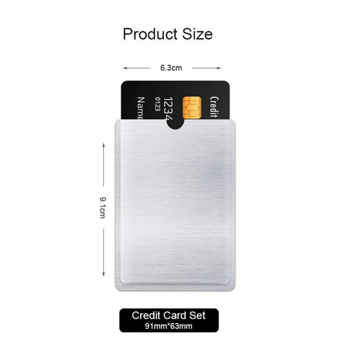 [10 PACK] Anti-Theft Card Sleeve (RFID BLOCKING)