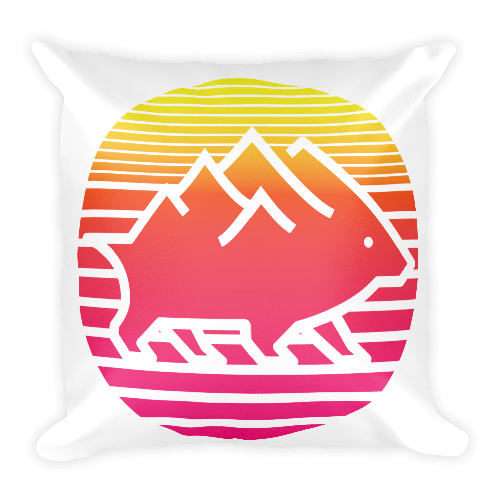 Sunset/Topo Pillow