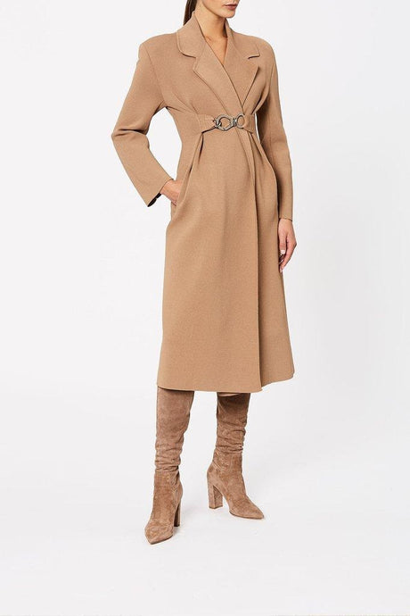 The Understated Camel Coat