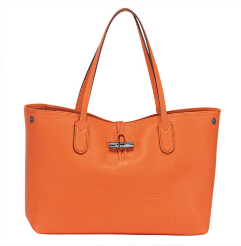 Longchamp's leather tote for colour and style inspiration