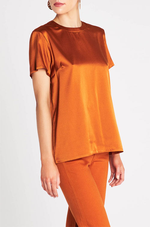 Sass and Bide's silk satin blend t-shirt