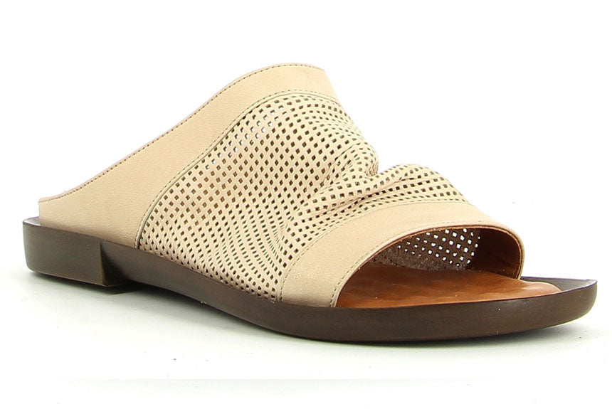 Powder slip on by Sempre di. So comfy and easy to throw on. Hurray for these as stock very low nationally. $125