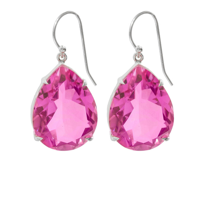 Spectacular Pink Topaz Earrings