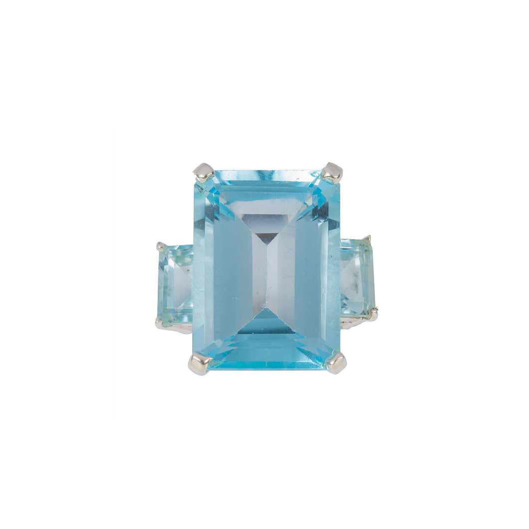 Opulent Blue Topaz Ring