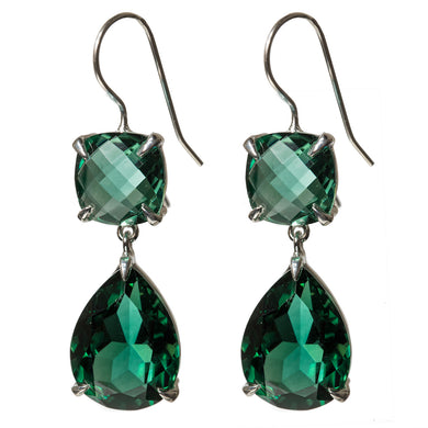 Deluxe green quartz earrings