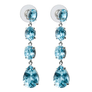 Cascading Blue Topaz Earrings