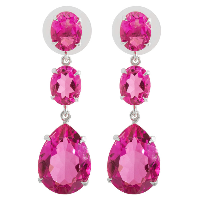 Stunning Pink Topaz Earrings