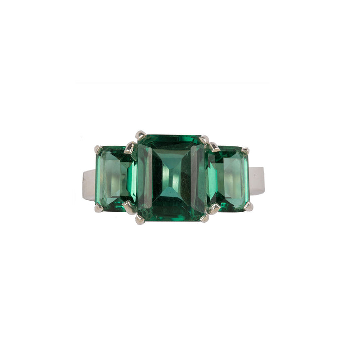 Refined Green Quartz Ring