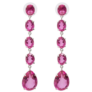 Elegant Pink Topaz Earrings