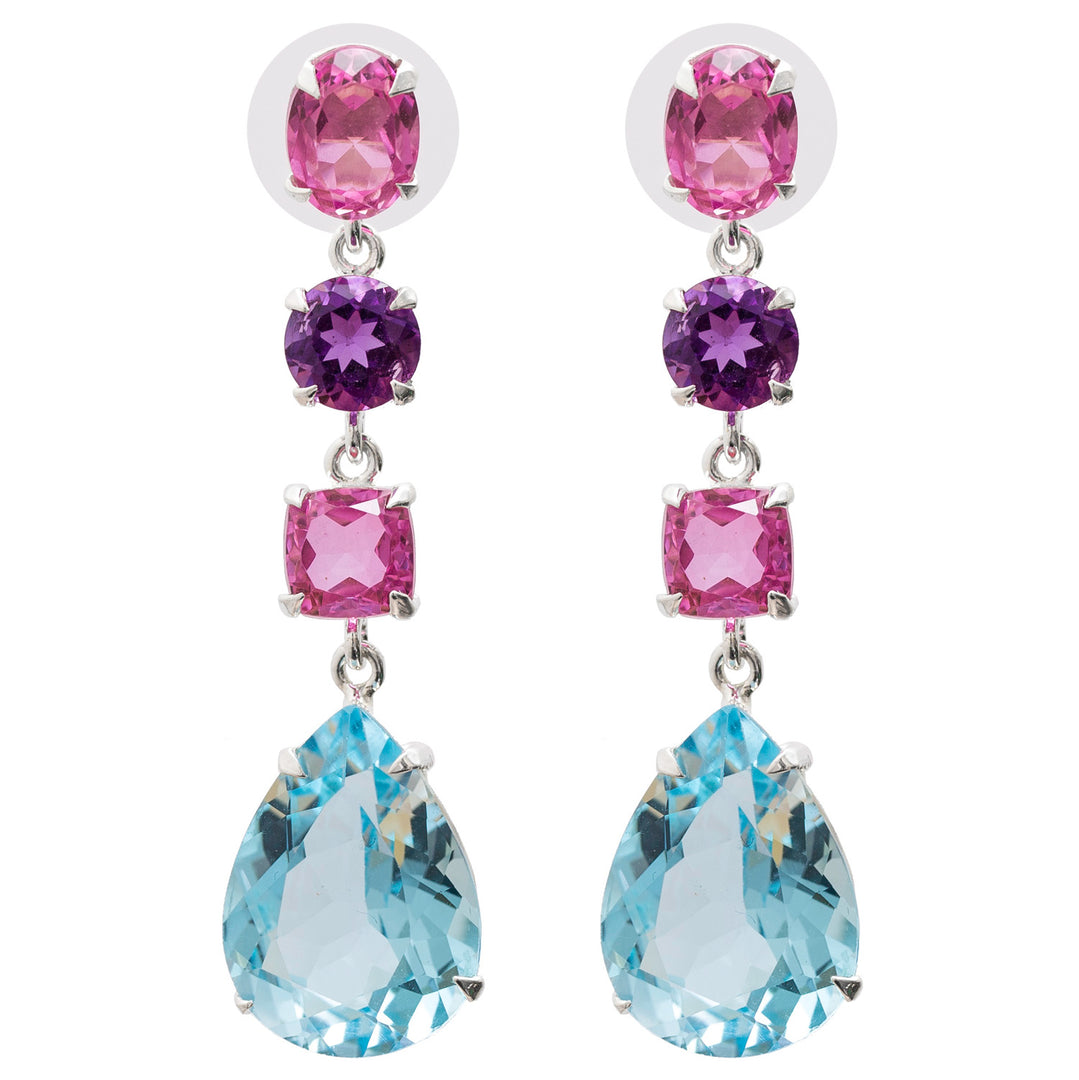 Whimsical Pink Topaz Earrings
