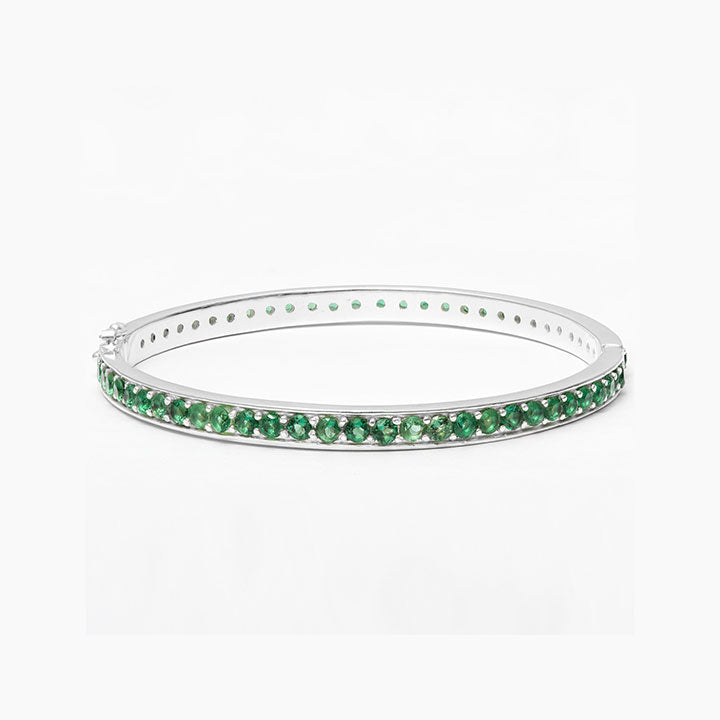 Bejewelled Green quartz bracelet