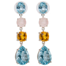 Blue Topaz Whimsical Earrings
