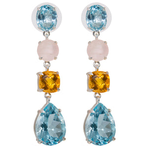 Blue topaz whimsical earring