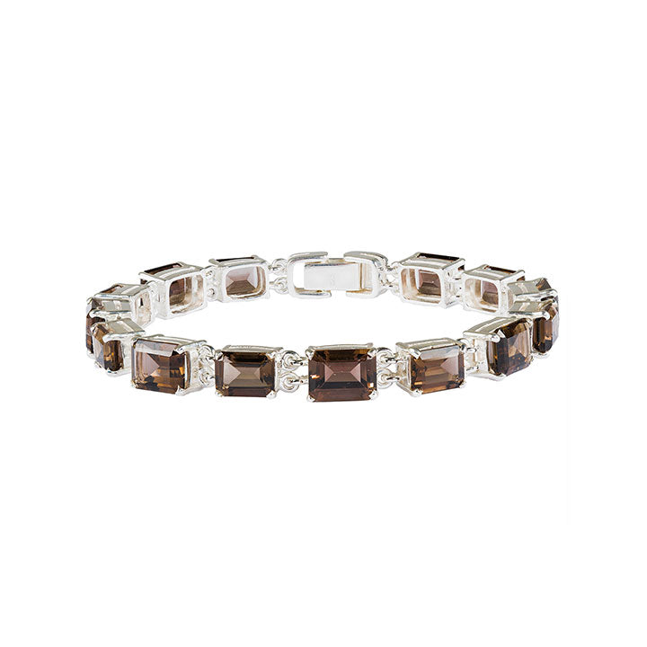 Deco Smoky Quartz Bracelet
