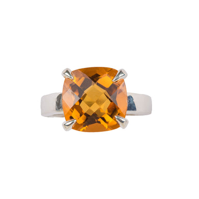 Delicate double cut citrine ring