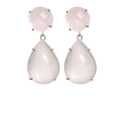 Delicate rose quartz earrings
