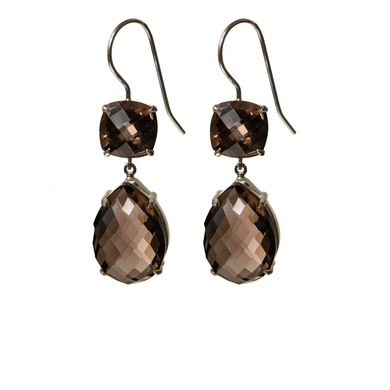 Deluxe Smoky quartz earrings