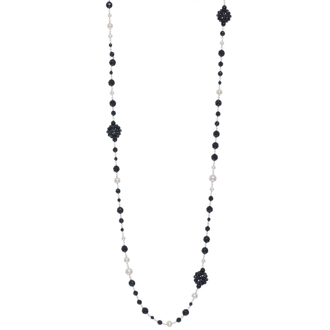 Elegant onyx and pearl necklace