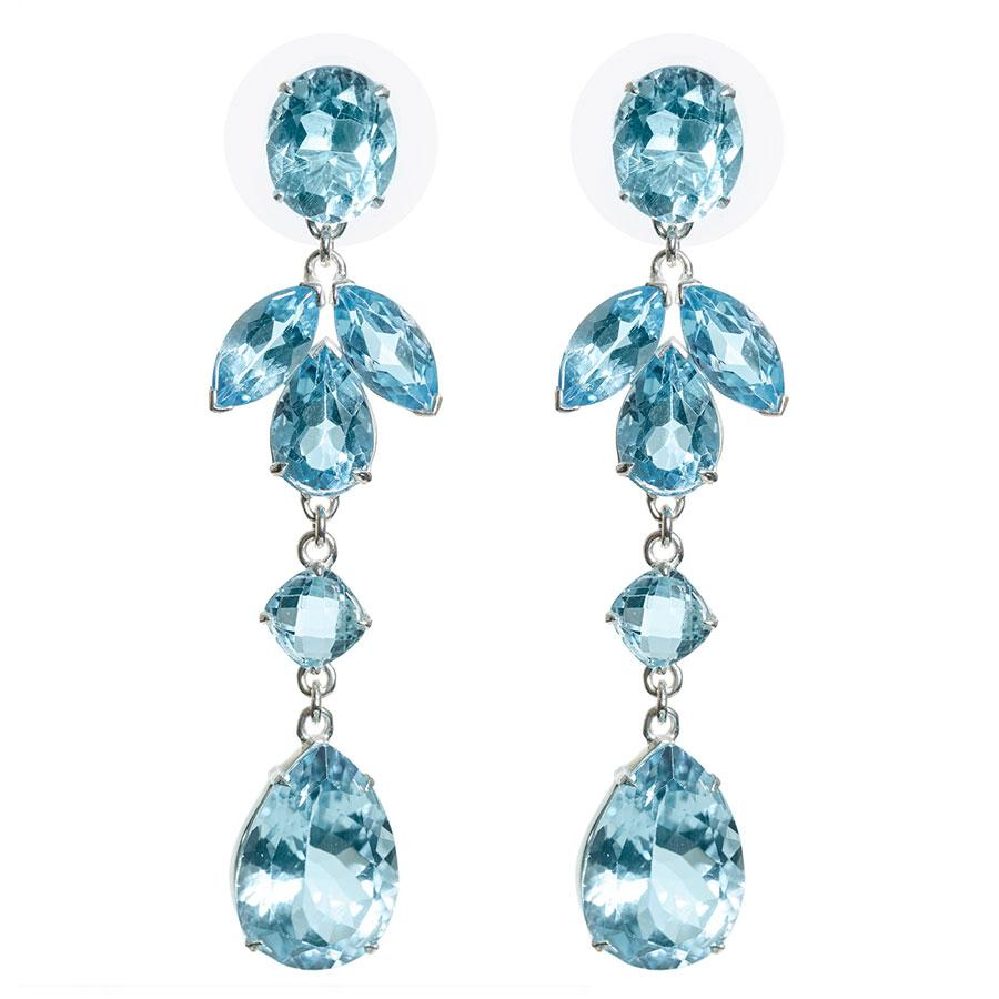 Glamorous blue topaz earrings