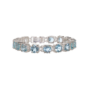 Luxurious Blue Topaz Bracelet