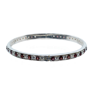 Sophisticated Garnet and Zirconia Bracelet