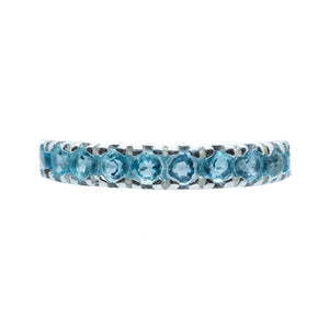 Eternity AAA Blue Topaz ring