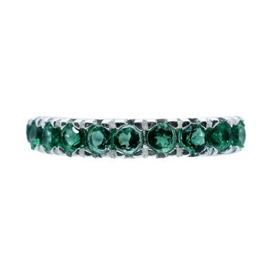 Eternity Green Quartz Ring