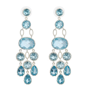 Maharani's blue topaz earrings