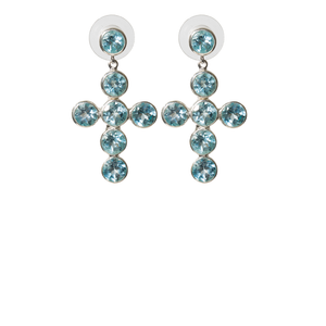 Medieval Blue topaz earrings