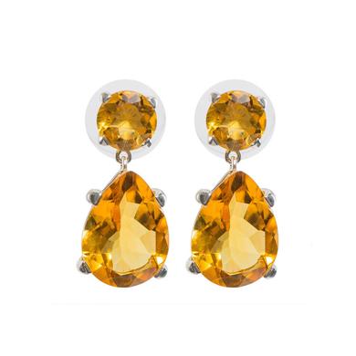 Delicate Citrine Earrings
