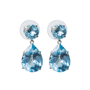 Delicate blue topaz earrings