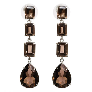 Opulent smoky quartz earrings