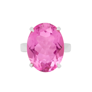 Timeless Pink Topaz Ring
