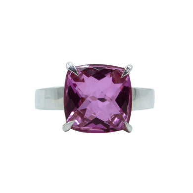 Delicate Double Cut Pink Topaz Ring