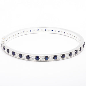 Sophisticated Sapphire and Zirconia bracelet