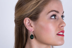 Spectacular Green Quartz Earrings