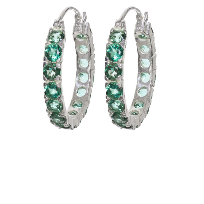 Stunning Green Quartz Hoops