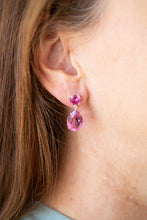 Delicate pink topaz earrings