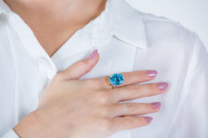 Timeless Blue Topaz Ring